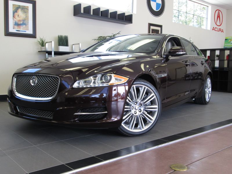 2010 Jaguar XJL Super Charged 4 Door Sedan Automatic Maroon 2 REAR TVUNDER FACTORY WARRANTY ABS