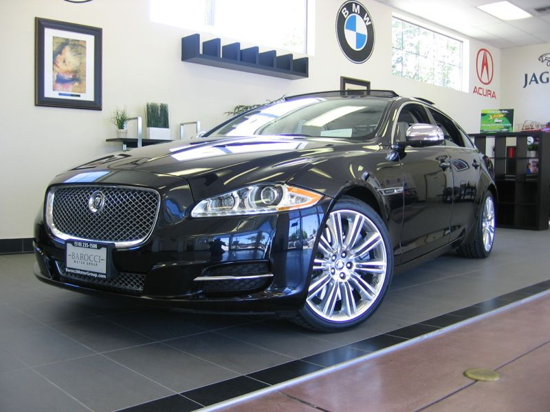 2011 Jaguar XJL Super Charge Supercharged 4D Sedan LWB Automatic Black Beige This 1 Owner Califo