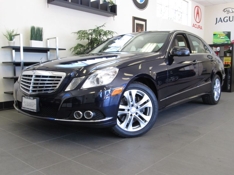 2010 MERCEDES E Class E350 Sedan 7-Speed Automatic Blue Comes with Memory Power Seats Leather In