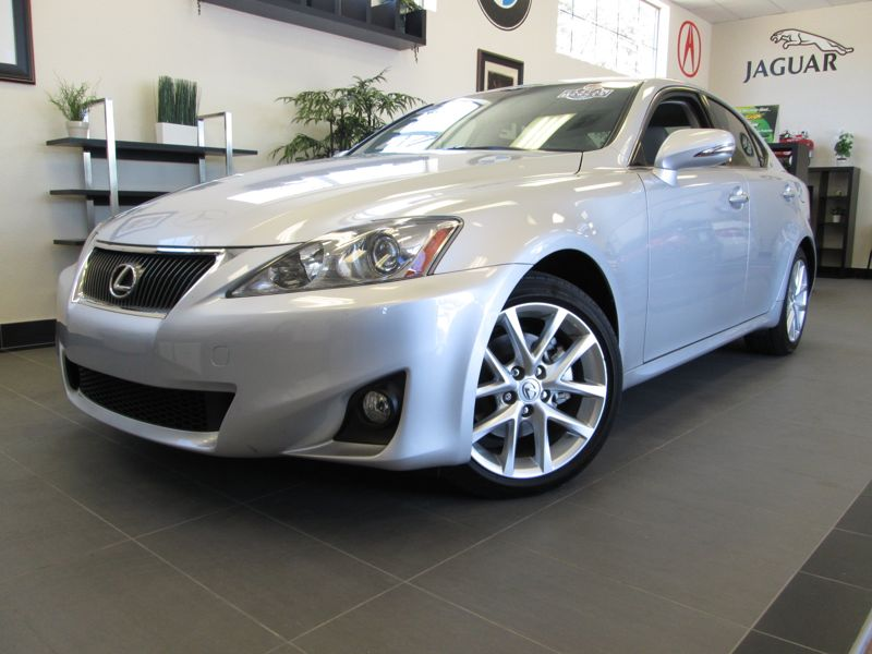 2012 Lexus IS 250 Sedan 4D Automatic 6-Spd Silver Gray Fantastic Sedan with 2 Keys Available com