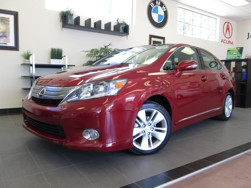2010 Lexus HS 250h Hybrid 4D Premium Sedan Automatic Red Black Comes with a clean history and is