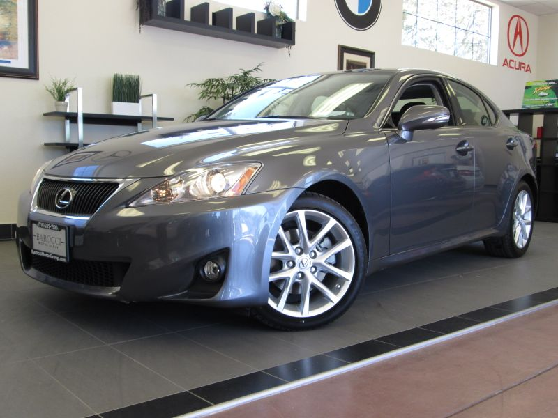 2012 Lexus IS 250 4D Sedan Automatic Gray Black This is a beautiful one owner IS with a clean hi