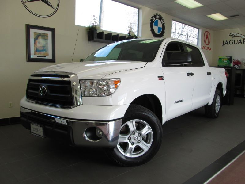 2012 Toyota Tundra CrewMax Pickup 4D 5 12 ft Automatic 6-Spd wSequential Mode White ABS 4-Wheel