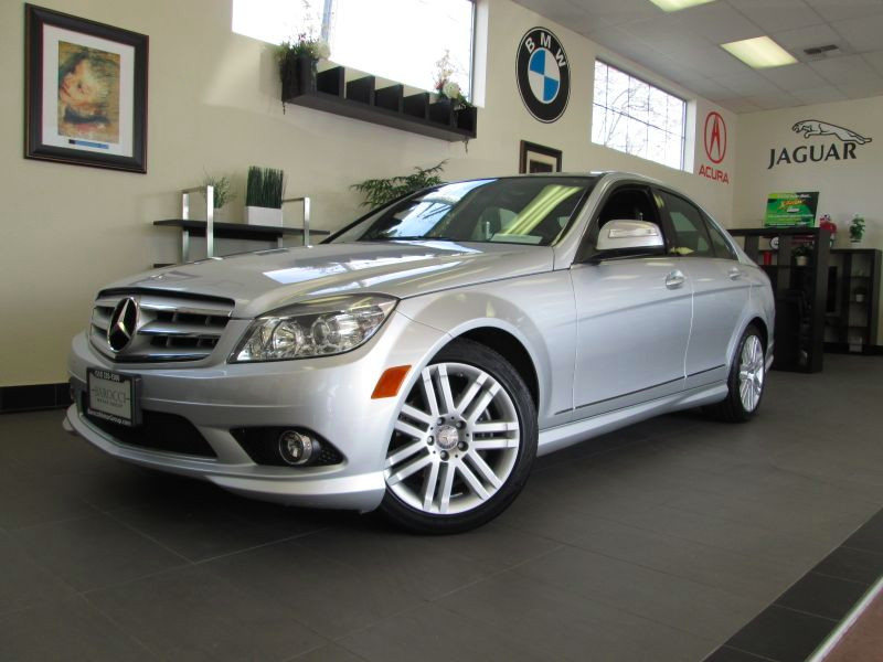 2009 MERCEDES C-Class C300 Sport Sedan 7-Speed Automat Silver Black This well equipped C Class c