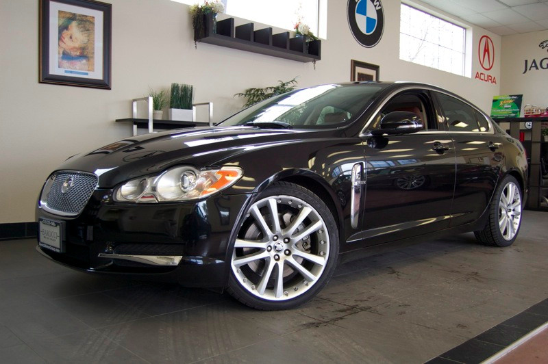 2011 Jaguar XF Premium Sedan 4D Automatic 6-Spd wOverdrive Black Brown This XF is a beautiful c