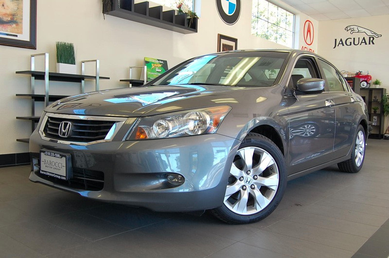 2008 Honda Accord EX-L V-6 Sedan AT 5-Speed Automatic Gray Off White Great One Owner Car Has Se