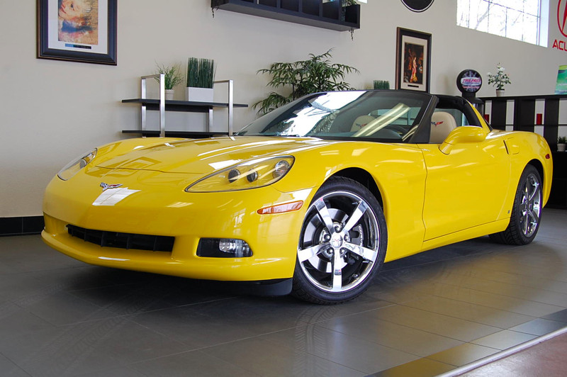 2010 Chevrolet Corvette Coupe 2D Automatic 6-Spd wPaddle Shift Yellow Tan This amazing Corvette
