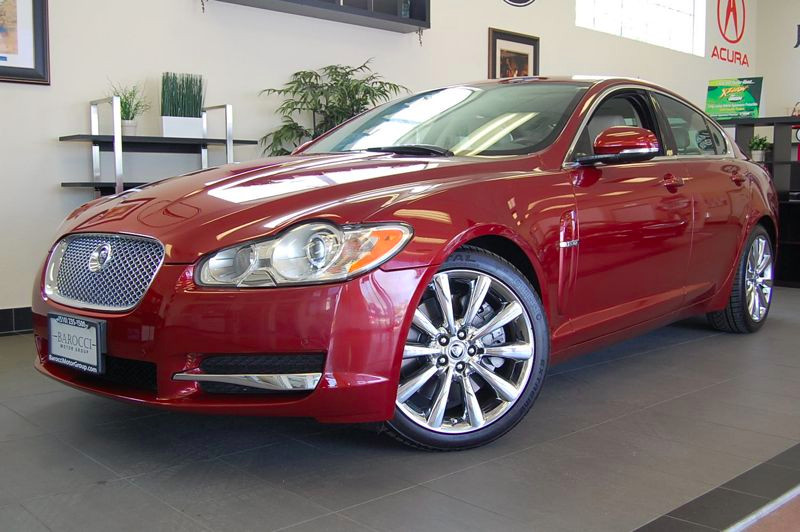 2011 Jaguar XF Premium Sedan 4D Automatic 6-Spd wOverdrive Red Tan 1 Owner with a clean Carfax