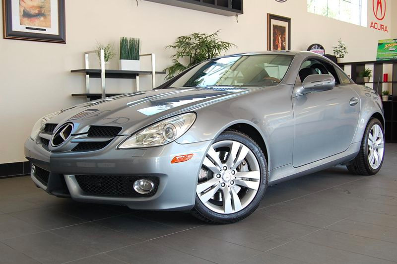 2010 MERCEDES SLK350 Roadster Automatic Silver Black Includes Navigation Satellite Radio Light