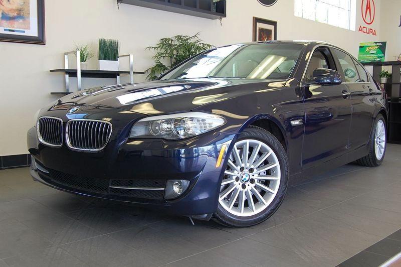 2011 BMW 5-Series 535i 4D Sedan Automatic Blue Tan 1 Owner California Lease Return with a clean