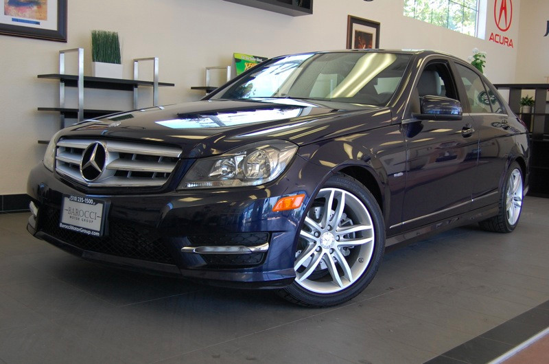 2012 MERCEDES C-Class C250 Luxury 4dr Sedan 7 Speed Auto Blue Tan California owned with Navigati