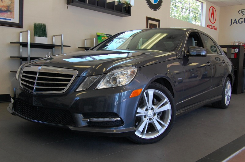 2012 MERCEDES E-Class E350 Luxury 4dr Sedan 7 Speed Auto Gray Tan Comes with the Premium Harman