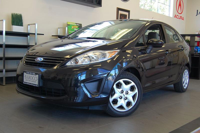 2012 Ford Fiesta S 4dr Sedan 5 Speed Manual Black Tan POWER WINDOWS A C Stock 1423 VIN 3FADP