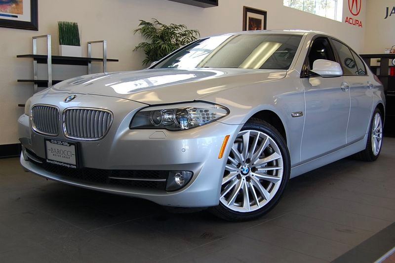 2011 BMW 5 Series 550i 4dr Sedan Automatic Silver Black Excellent One Owner lease return with a