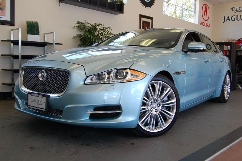 2011 Jaguar XJL Supercharged 4dr Sedan 6 Speed Auto Blue Tan Amazing Supercharged Jaguar XJL wit