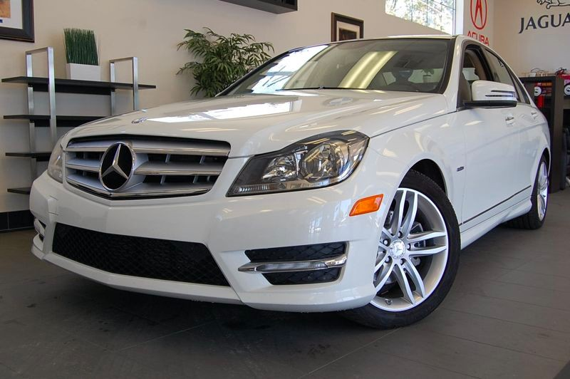2012 MERCEDES C-Class C250 SPORT 4dr Sedan 7 Speed Auto White Tan Very nice shape inside and out