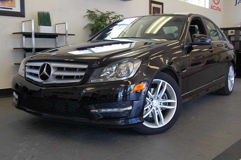 2012 MERCEDES C-Class C250 Luxury 4dr Sedan 7 Speed Auto Black Black  Beautiful C250 sedan with