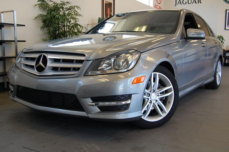 2012 MERCEDES C-Class C250 Luxury 4dr Sedan 7 Speed Auto Silver Black Very nice shape inside and