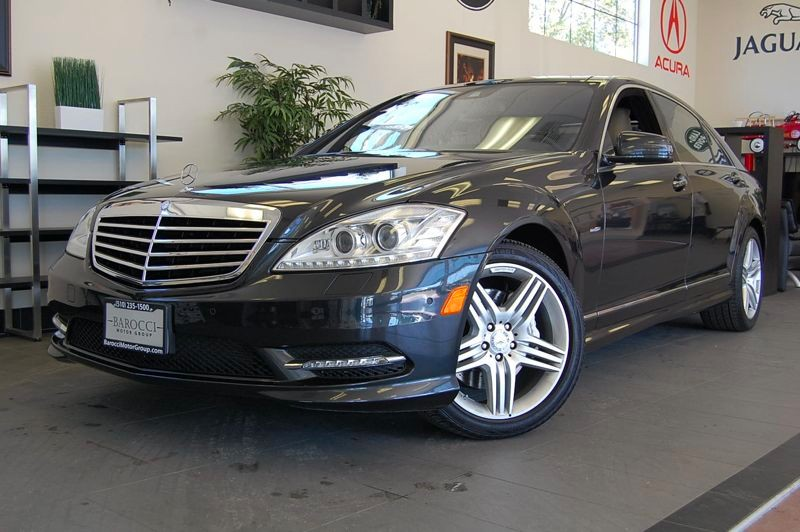 2012 MERCEDES S-Class S550 4dr Sport PKG AMG 7 Speed Auto Gray Tan Superb S 550 sedan with Heate