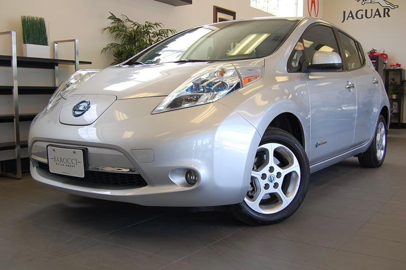 2011 Nissan LEAF SV 4dr Hatchback Automatic CVT Silver Gray This one owner vehicle is in fabulou