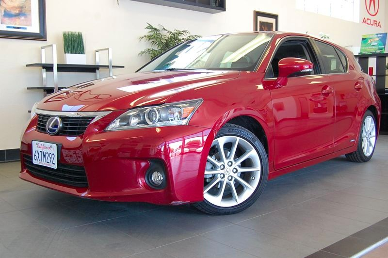 2012 Lexus CT 200h 4dr Hatchback Automatic Red Black A beautiful Hybrid that gets excellent gas