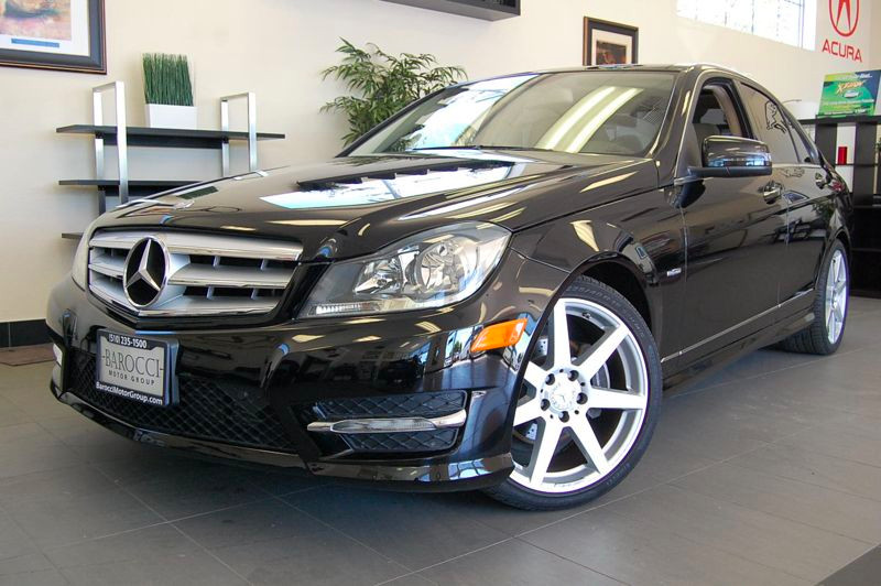 2012 MERCEDES C-Class C250 Sport 4dr Sedan 7 Speed Auto Black Tan Comes with a clean Carfax and