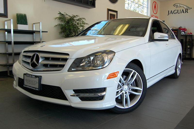 2013 MERCEDES C-Class C250 Sport 4dr Sedan 7 Speed Auto White Black Fantastic C Class with Sport