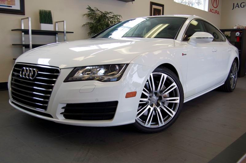 2012 Audi A7 30T quattro Premium AWD  4dr Sedan 8 Speed Auto White Black This 1 Owner car is ju