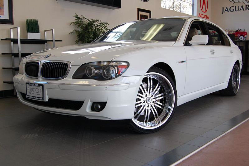 2008 BMW 7 Series 750Li Sedan 4dr RWD 6 Speed Auto White Comes with a clean Carfax report and is