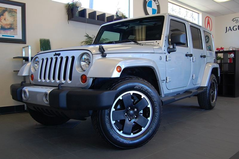 2012 Jeep Wrangler Unlimited Arctic 4x4  4dr SUV Automatic Silver Black This is a beautiful Jeep