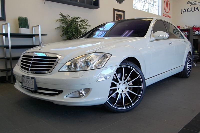 2008 MERCEDES S-Class S550 4dr Sedan 7 Speed Auto White Tan This is a beautiful S class with Nig