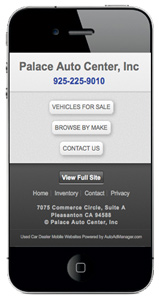 Dedicated Mobile Website for Car Dealers