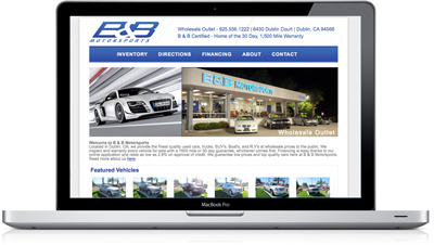 Custom Responsive Website Design for Car Dealers